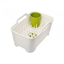 Contenedor y Escurridor de Vajilla - Wash & Drain Plus Verde Blanco Y Verde - Joseph Joseph