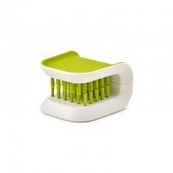 Limpiador De Cubiertos - Bladebrush Verde Y Blanco - Joseph Joseph