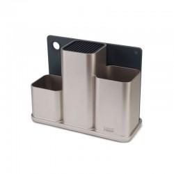 Kitchen Worktop Organiser Silver - CounterStore - Joseph Joseph JOSEPH JOSEPH JJ85122