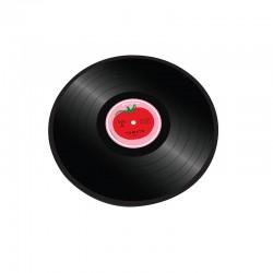 Tábua de Vidro Redonda - Tomate Transparente - Joseph Joseph
