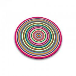 Tabla de Cristal Redonda - Círculos Transparente - Joseph Joseph