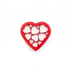 Galletas Puzzle Corazón Rojo - Lekue