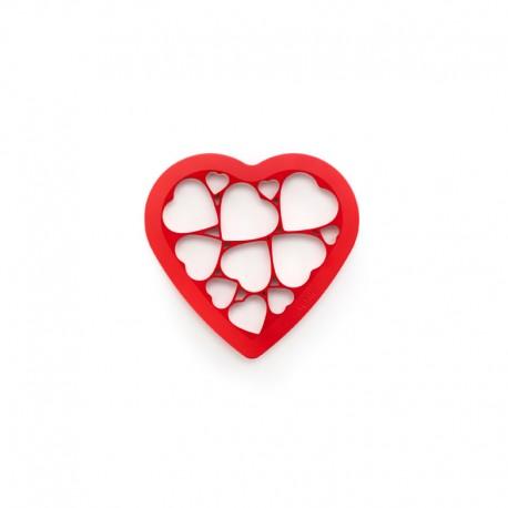 Cookies Puzzle Hearts Red - Lekue LEKUE LK0200160R01M017
