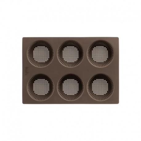 Molde Mini Pães Redondos - 6 Cavidades Castanho - Lekue LEKUE LK0202300M10M017