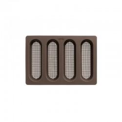 Molde Para Mini Baguetes - 4 Cavidades Castanho - Lekue | LEKUE