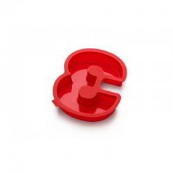 Molde Para Bolos Número 3 Vermelho - Lekue