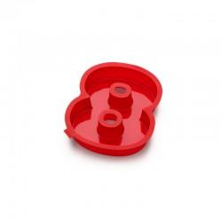 Molde Para Bolos Número 8 Vermelho - Lekue