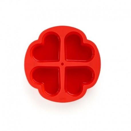Molde 4 Porciones Corazón Rojo - Lekue |Molde 4 Porciones Corazón Rojo - Lekue