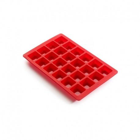 Molde Mini Brownies Rojo - Lekue |Molde Mini Brownies Rojo - Lekue