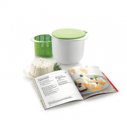 Kit Cheese Maker+Spanish Cookbook White And Green - Lekue
