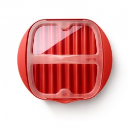 Microwave Bacon Cooker Red And Transparent - Lekue LEKUE LK0220250R14M150