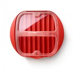 Microwave Bacon Cooker Rojo Y Transparente - Lekue