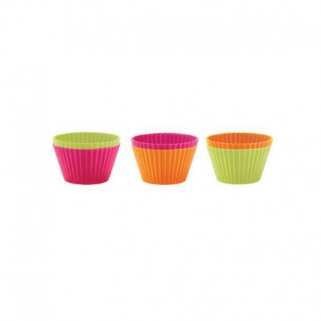 Moldes Para Cupcakes Individuais 7Cm (6Un) Sortido - Lekue LEKUE LK0240100SURM033