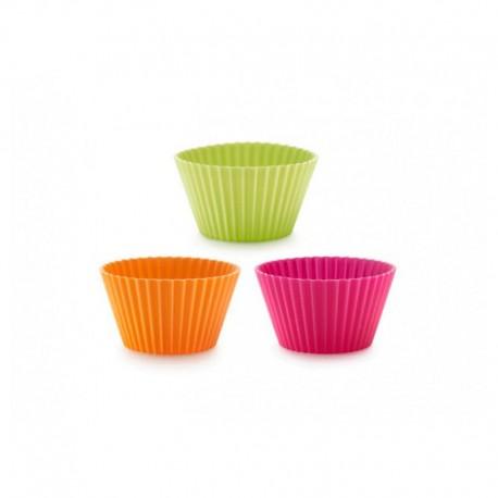 Moldes Para Cupcakes Individuais 7Cm (12Un) Sortido - Lekue LEKUE LK0240101SURM033