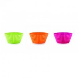 Moldes Para Cupcakes Individuais Grande 10Cm (6Un) Sortido - Lekue