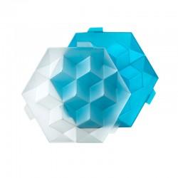 Molde De Gelo - Cubos Gigantes Azul - Lekue
