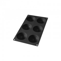 6 Semi-Sphere Mould Black - Lekue