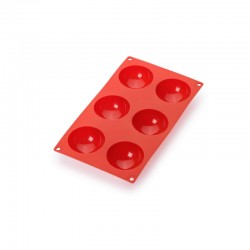 6 Semi-Sphere Mould Red - Lekue