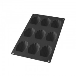 Madeleines Mould (9Cav.) Black - Lekue