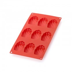 Madeleines Mould (9Cav.) Red - Lekue