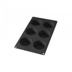 Molde de Silicona de 6 Muffins Negro - Lekue