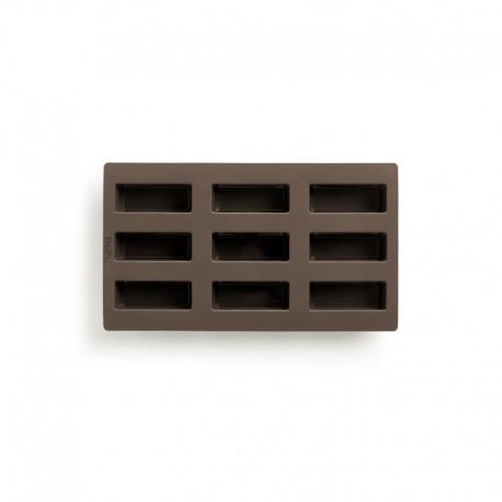 Molde Retangular Para Mini Pães - 9 Cavidades Castanho - Lekue LEKUE LK0620909M10M017