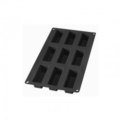 9 Mini Cake Silicone Mould Black - Lekue