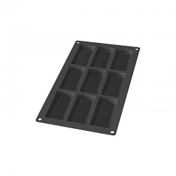 9 Financier Silicone Mould Black - Lekue