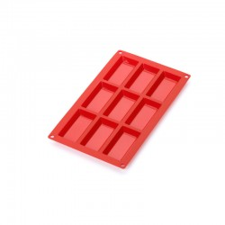 9 Financier Silicone Mould Red - Lekue
