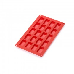 20 Mini Financiers Silicone Mould Red - Lekue
