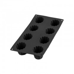 Molde para 8 Bordelais Acanalados Negro - Lekue