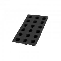 Molde Para 18 Mini Bordelais Acanalados Negro - Lekue