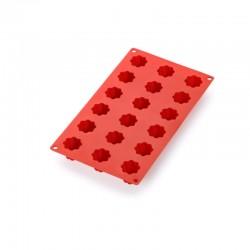 Molde Para 18 Mini Bordelais Acanalados Rojo - Lekue