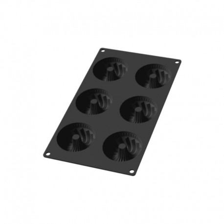Molde Para Mini Savarin - 6Un Preto - Lekue LEKUE LK0621806N01M022