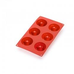 6 Mini Savarin Cake Mould Red - Lekue