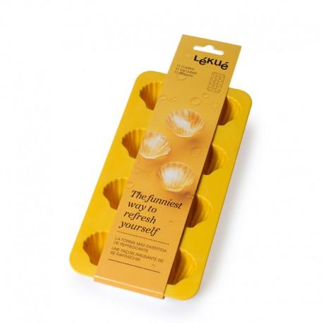 Shell-Shaped Ice Cube Tray Yellow - Lekue LEKUE LK0850400A02C150