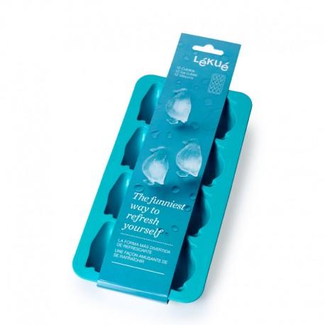 Molde Para Gelo Pinguim Azul - Lekue LEKUE LK0850800V08C150