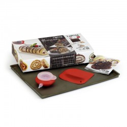Kit Roll Cake Brown And Red - Lekue