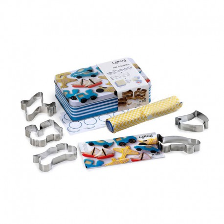 Kit Cookies Transports Grey - Lekue LEKUE LK3000027SURM017