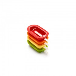 Kit Stackable Popsicles Moulds (4Un) Green, Yellow, Orange And Red - Lekue