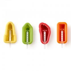 Iconic Ice Cream Moulds (4Un) Multicolour - Lekue