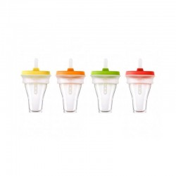 Collapsible Ice Cream Moulds (4Un) Multicolours - Lekue