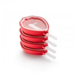 Kit De Fresas Heladas (4Un) Rojo - Lekue LEKUE LK3400265S01U150