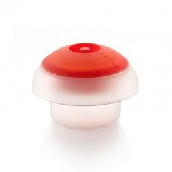 Huevo Cilindrico Transparente Y Rojo - Lekue