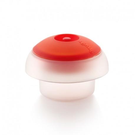 Ovo Cilíndrico Transparente E Vermelho - Lekue LEKUE LK3401900B04U008