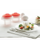 Kit Egg Cooker (X2) White - Lekue | Kit Egg Cooker (X2) White - Lekue