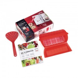 Kit Microwaver Cooker, Spoon And Cookbook (Es) - Lekue
