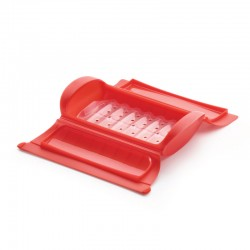 Steam Case With Draining Tray 1-2Pers Red - Lekue