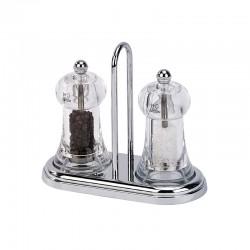 Set Molinillos de Sal y Pimienta 11cm - Brasserie Transparente - Peugeot Saveurs