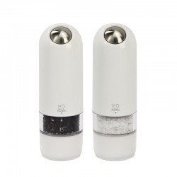 Conjunto de Moinhos Elétricos 17cm - Alaska Duo Branco - Peugeot Saveurs